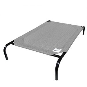 The Original Elevated Pet Bed By Coolaroo – Large Grey