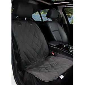 BarksBar Pet Front Seat Cover for Cars – Black, WaterProof & Nonslip Backing