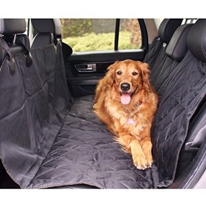 BarksBar Pet Car Seat Cover With Seat Anchors for Cars, Trucks, and Suv's – Black, WaterProof & NonSlip Backing