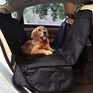 PetSpy Luxury Dog Car Seat Cover for All Vehicles with Side Flaps and Seat Anchors – Hammock Style, Machine Washable Non Slip and Waterproof
