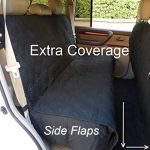 Deluxe Quilted and Padded seat cover with Non-Slip Fabric in Seat Area for Pets – One Size Fits All 56″Wx94″L Black