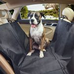 Sharkk Waterproof Dog Car Seat Cover Durable Non-Slip Pet Hammock Seat Cover – Protects Against Mud, Water, Dirt and Pet Hair