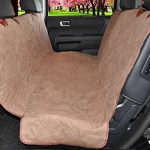 ObeDog Deluxe Suede Quilted Waterproof Hammock Car Seat Cover, SUV/Full, Camel