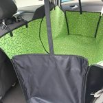 Sunshines Waterproof Dog Seat Cover for Cars Backseat Pet Protect Hammock Washable Adjustable Dog Cat Safety Travel Blanket Mat Cover Green