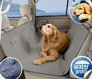 SeaDog Pro Waterproof Hammock Style Dog Car Seat Cover. Non-slip with utility pockets. Great for Wet Pets! Best quality on Amazon
