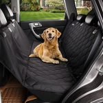 Acrabros Deluxe Dog Seat Covers For Cars,Dog Car Seat Hammock Convertible,Universal Fit,Extra Side Flaps,Exclusive Nonslip,Waterproof Padded Quilted,Black