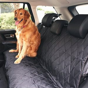 Cozime Pet Dog Seat Cover Waterproof Hammock with Seat Anchors, Nonslip, Extra Side Flaps, Machine Washable Barrier,Fit for SUVs,Cars,Trucks & Vehicles