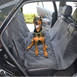 Waterproof Car Bench Seat Cover for Pets Auto Back Rear Seat Barrie with Seat Anchors, Nonslip, Extra Side Flaps
