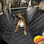 Yermo Pet Hammock Dog Car Seat Cover / Protector – Waterproof – 57″L x 55″W – Non-Slip Backing – Heavy Duty Polyester – Machine Washable – Plus FREE Bonus.