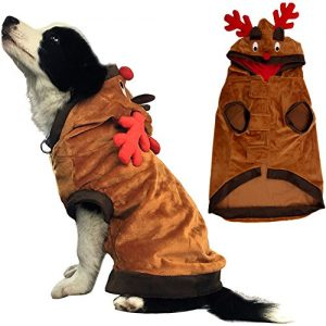 Dog Costumes Pet Christmas Clothes Funny Reindeer Coat for Puppy Cat Small