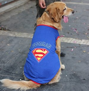 Colorfulhouse Superman Pet Costume for Large Dogs Dog Vest Costume (XXL (Chest 37″))