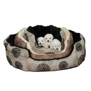 Floral Polyester Uptown Loungers Dog Bed