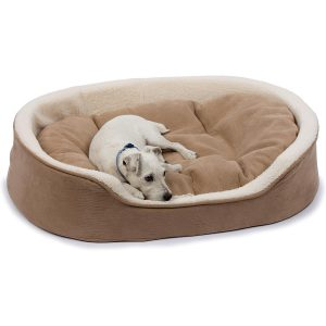 Tan and Cream Lounger Dog Bed