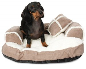 Dog Sofa Bed with Pillow